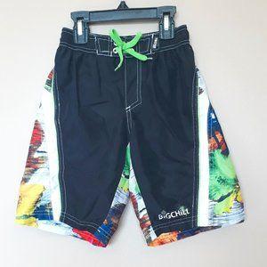 Big Chill Boys Size 6 Swim Shorts Black/Multi